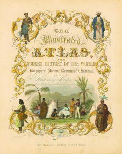 1851 Tallis Atlas Title Page