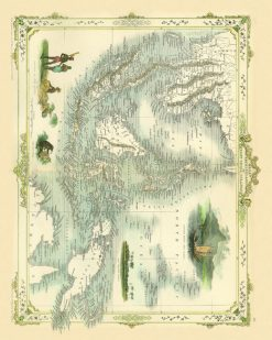 1851 Tallis Malay Archippelago East India Islands