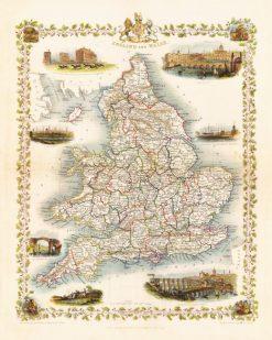 1851 John Tallis England & Wales