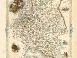 1851 John Tallis Russia In Europe