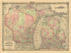 1860 Johnson & Browning Michigan & Wisconsin