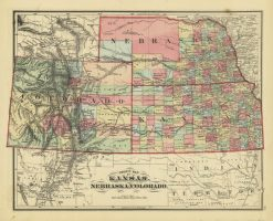 1861 Johnson Kansas, Nebraska & Colorado