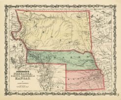 1861 Johnson Nebraska, Dakota, Colorado & Kansas