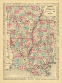 1846 Johnson & Ward AK, MS & LA