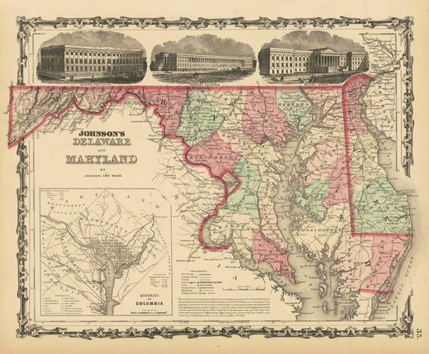 1863 Johnson & Ward Delaware & Maryland