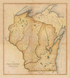 1852 Laphams Wisconsin