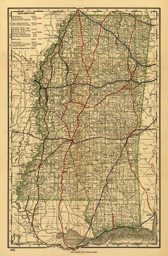 1888 McNally Mississippi