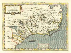 1630 Mercator-Hondius Virginia & Florida