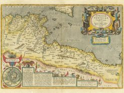1590 Ortelius Barbary Coast