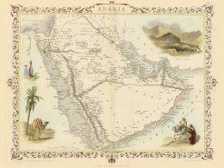1851 John Tallis Arabia