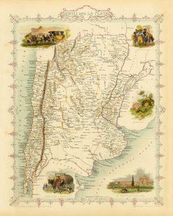 1851 John Tallis Chili & Plata