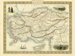 1851 John Tallis Asia Minor
