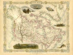 1851 John Tallis British America