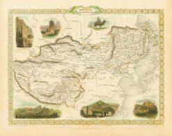 1851 John Tallis Thibet Mongolia & Mandchouria