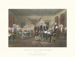 1850 Tallis (Trumbell - Cook) Decloration Of Independence