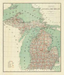 1878 US General Land Commision Michigan