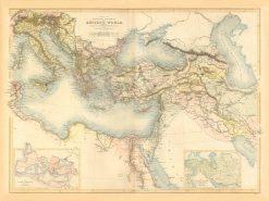 Black (Hughes) Ancient World (Alps to Egypt) 1841