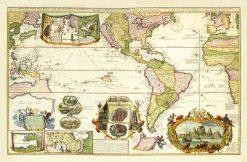 De Leth Western Hemisphere 1730