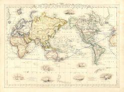 Edmonds World (Mercator Projection) 1856
