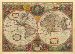 Hondius World 1630