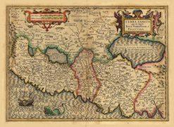 Mercator Hondius Holy Land (Terra Sancta - Palestina)