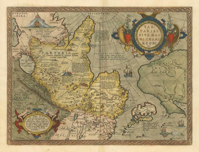 1579 Ortelius Northern Asia (Tartaria)
