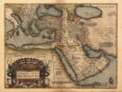 1598 Ortelius Middle East (Turcici Impe)