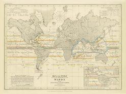 Petermann (Orr & Co) World (Winds) 1853